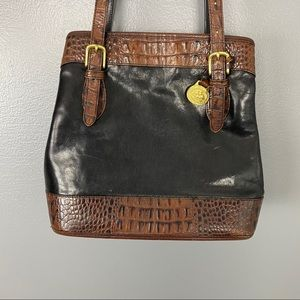 Brahmin Black & Brown Leather Purse
